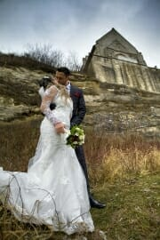 Wedding photographer at Stevns Klint