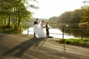 Wedding portrait in nature in north of Copenhagen.