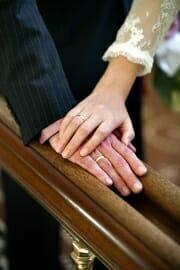 Wedding photo at the City Hall.