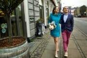 Wedding portrait in the streets of Copenhagen.